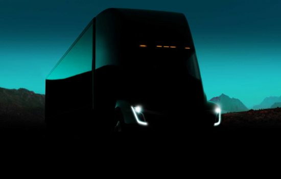 The Tesla Semi - image courtesy of Tesla