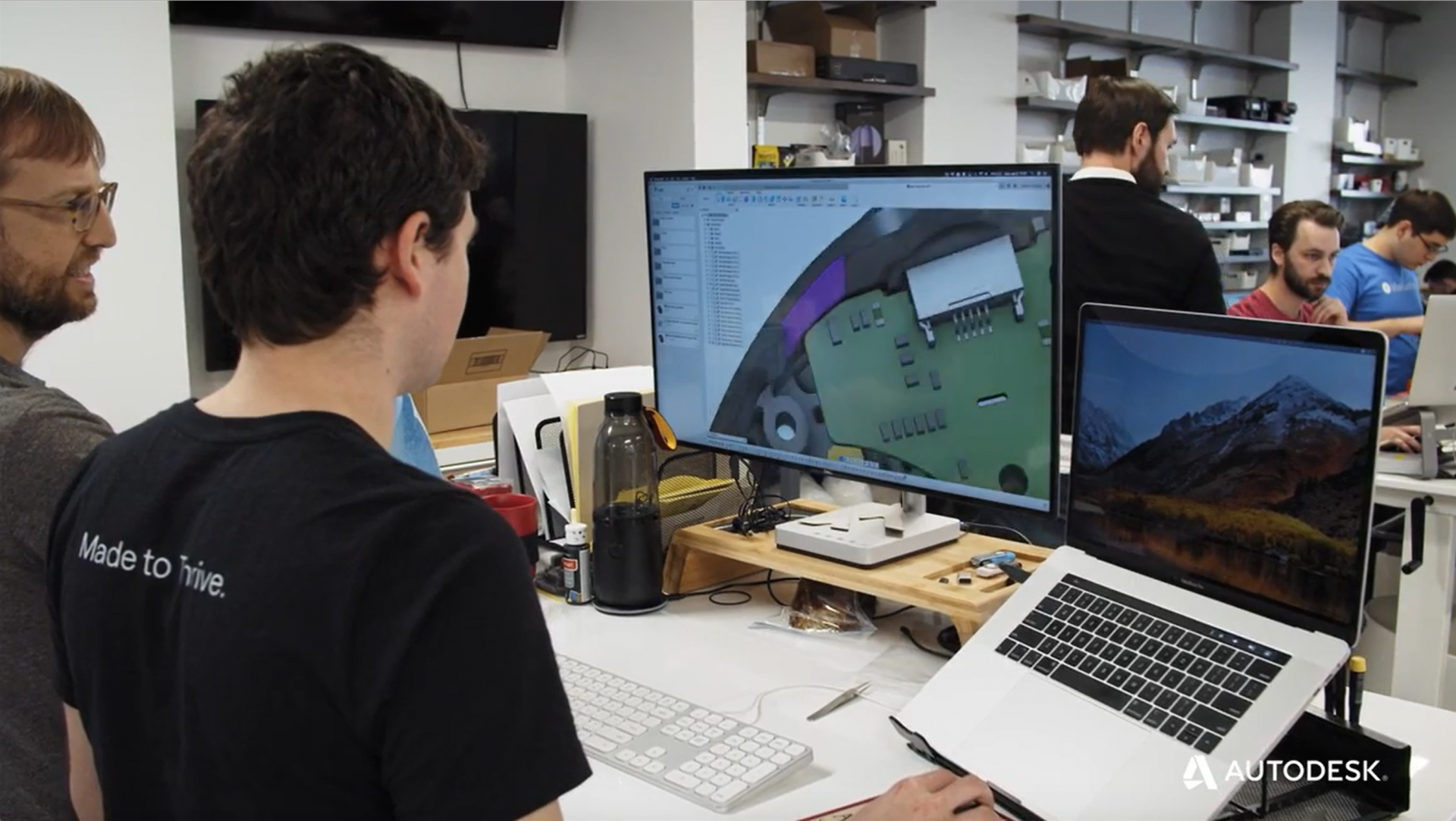 LifeFuels engineer verifying ECAD MCAD design using Fusion 360