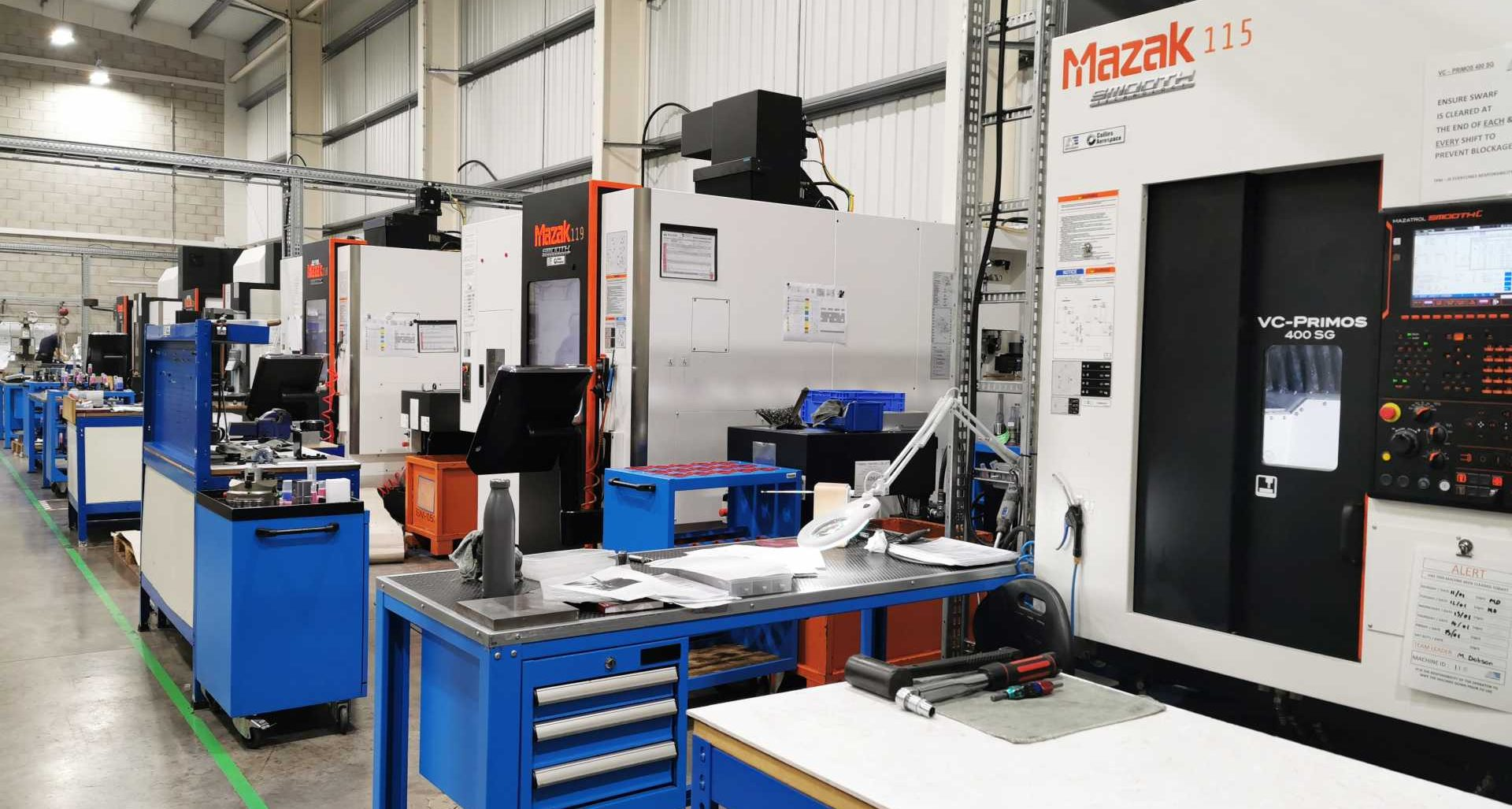 AE Aerospace Shop Floor 2 - A string of investments in new machines, software and technologies will deliver fully automated production and capacity planning