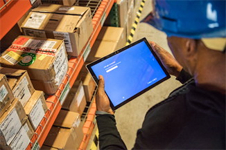 Technology is playing an important role in helping UK organisations improve supply chain efficiency - image courtesy of Microsoft