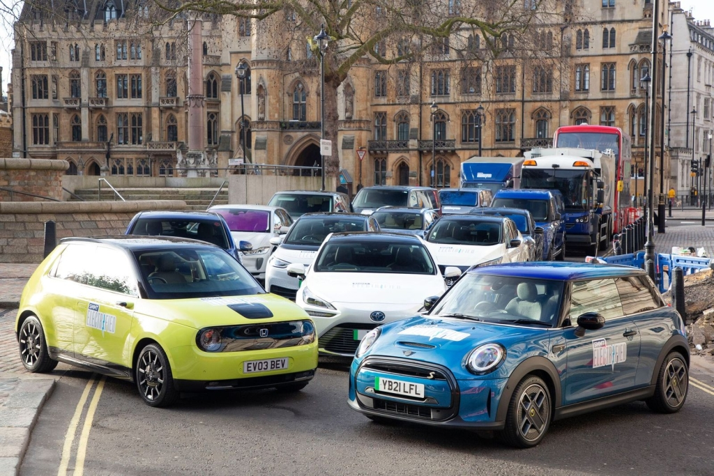 SMMT Electrified 2021 Electric Vehicle line up. Image courtesy of SMMT