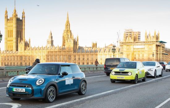 SMMT Electrified 2021 Electric Vehicle line up featured. Image courtesy of SMMT