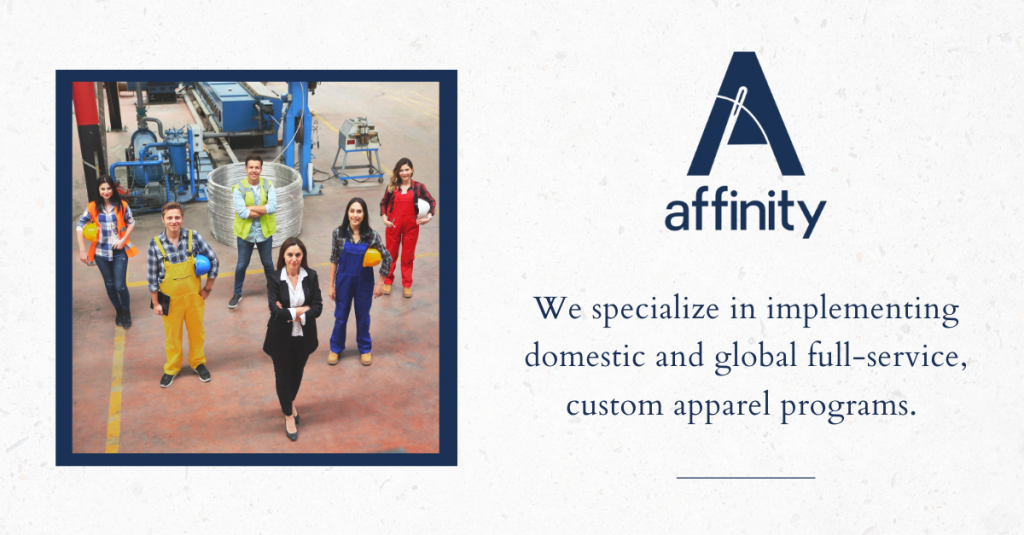 Affinity Apparel has revealed a new brand logo and significant manufacturing investment - image courtesy of Affinity.