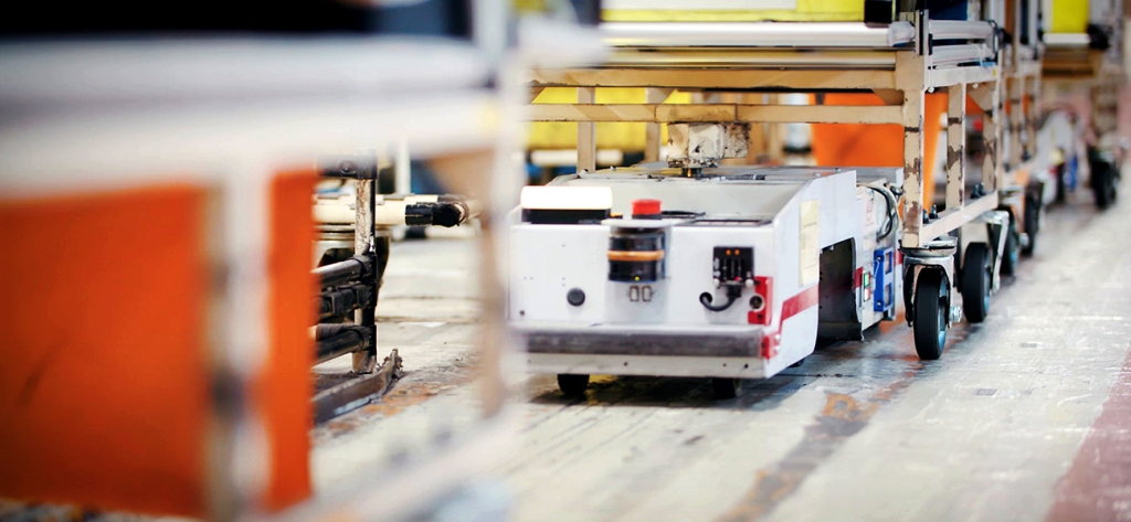 Nissan's automated guided vehicles (AGVs) – mobile machines that help workers in factories – are evolving thanks to the second life of Nissan LEAF batteries IMAGE: NISSAN