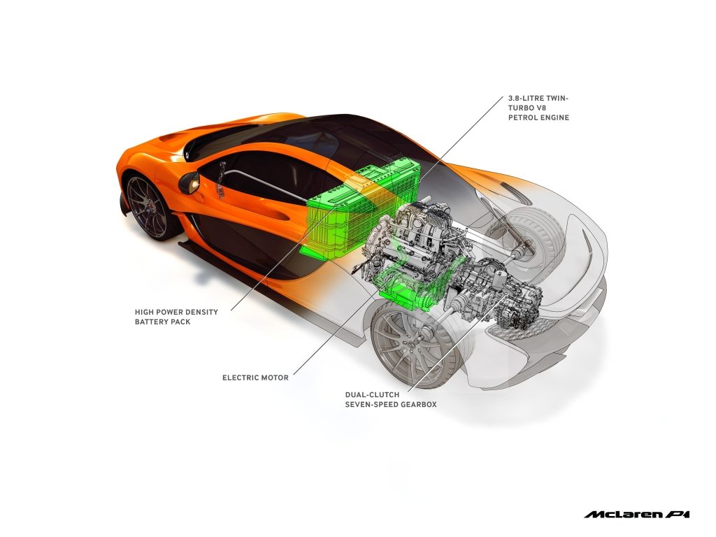 The McLaren P1, including its revolutionary powertrain, drew on McLaren's many decades of racing experience and success. Image courtesy of McLaren Applied.