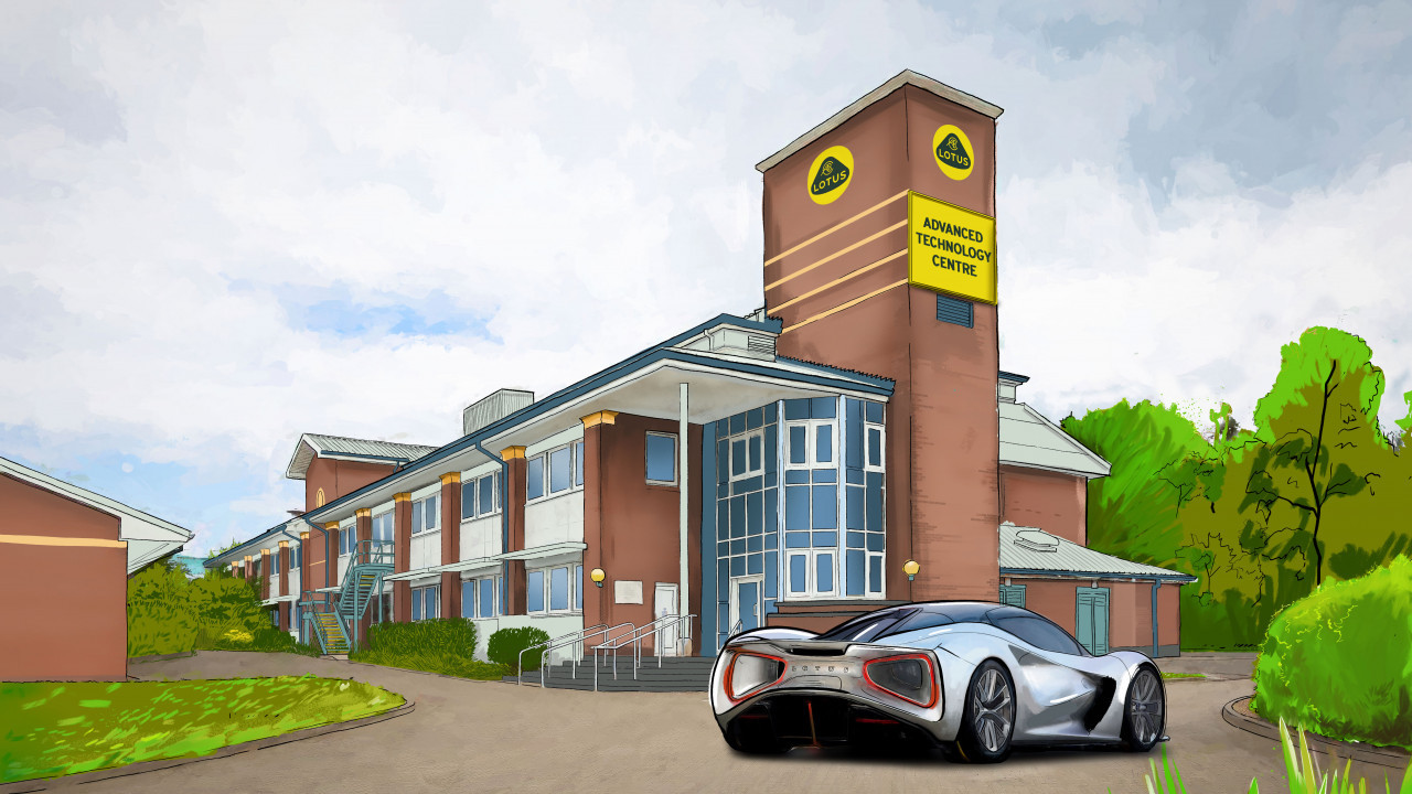 Lotus Cars' Advanced Technology Centre on the University of Warwick's Wellesbourne Campus. Image courtesy of Lotus Cars