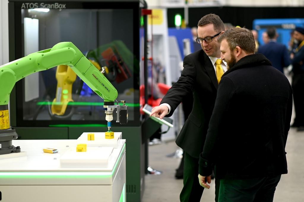 FANUC produces 750,000th robot. Image courtesy of FANUC Corporation.