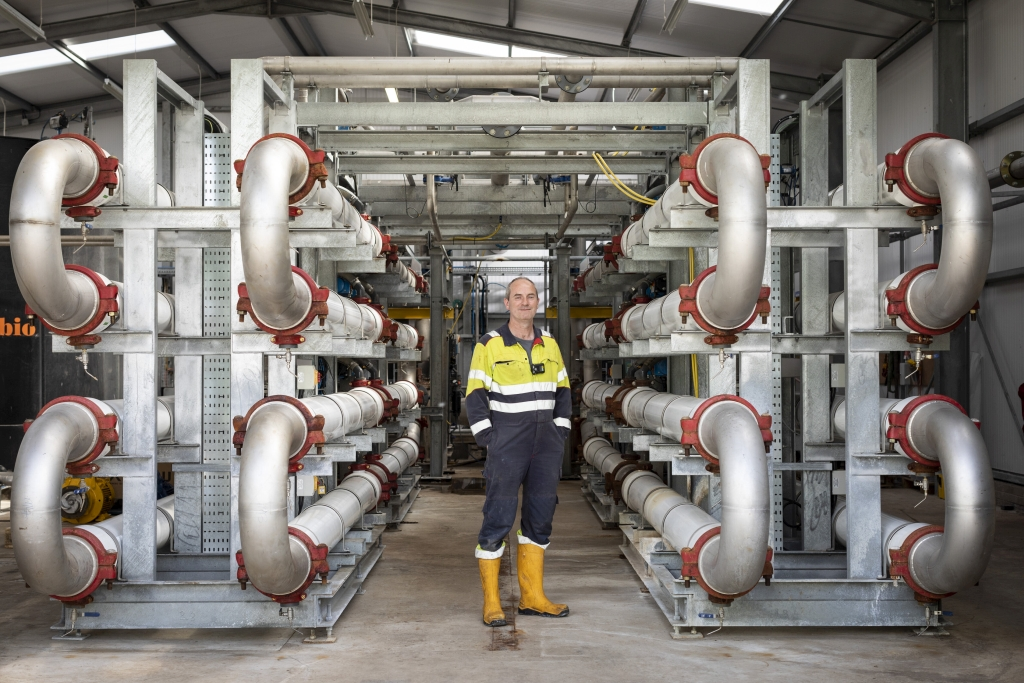 Frank Flynn at the Water Treatment & Recycling Plant. Image courtesy of Scottish Leather Group.