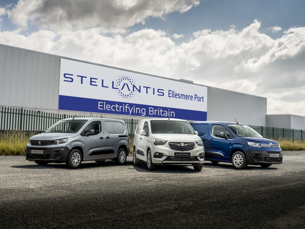 Ellesmere Port to become Stellantis's first manufacturing site dedicated to battery electric LCV and passenger car models. Image courtesy of Vauxhall Motors.