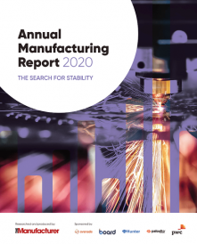 Annual Manufacturing Report 2020 cover including UK Manufacturing Statistics - The Manufacturer