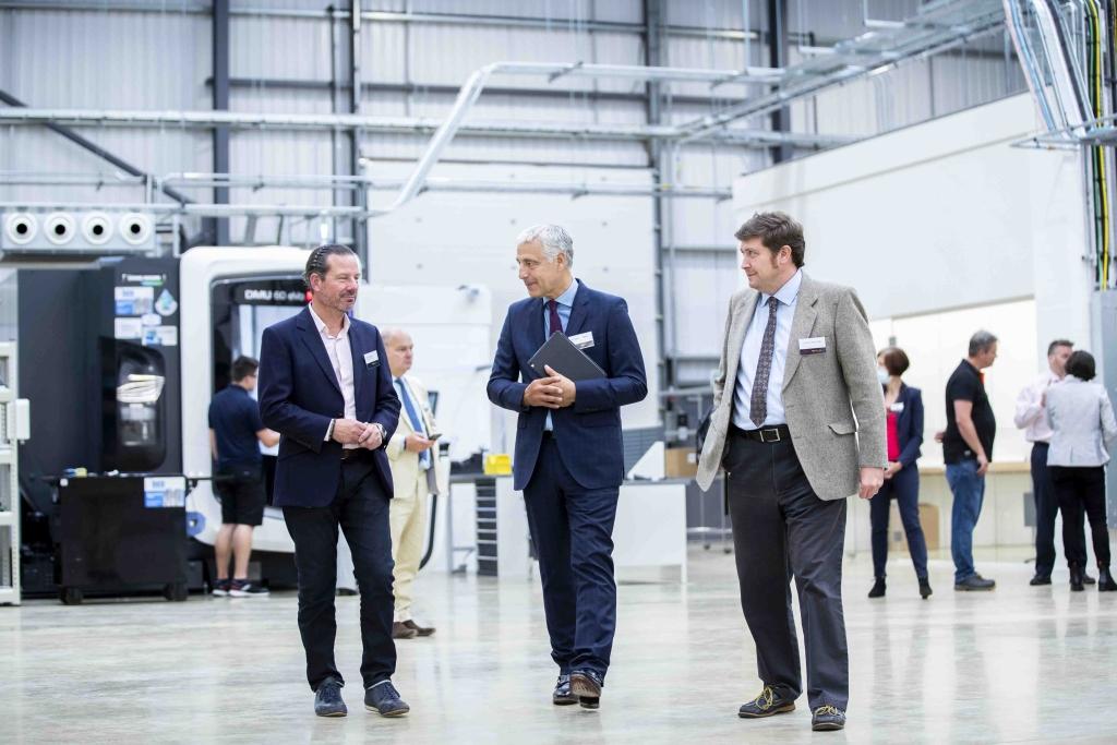 (Low Res) Kieron Salter (CEO), Richard Harrington (BTVLEP) and Andrew Lewer MBE MP. Image courtesy of DMC
