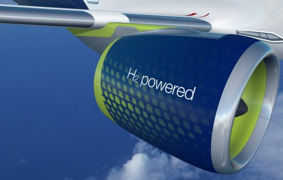 Airbus is working to deliver the world's first zero-emission commercial aircraft by 2035, with hydrogen propulsion helping deliver on this ambition. Image courtesy of Airbus.