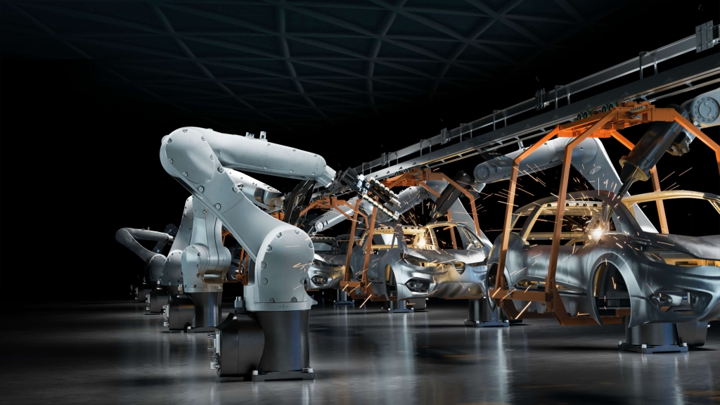 Industry robots automation automotive manufacturing. Image courtesy of Ericsson