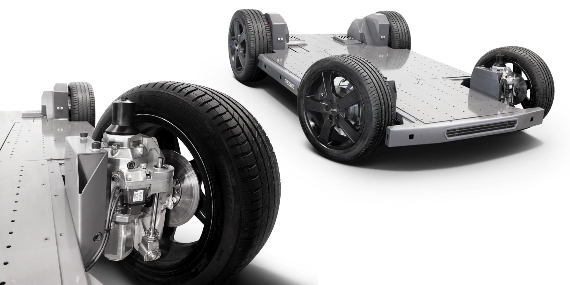 REEcorner technology and fully flat EV platform. Image courtesy of REE Corner