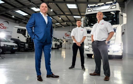 SM UK managing director Steve MacDonald , general manager Jason Chesman, operations manager Dave Wilman. Image courtesy of SMUK.