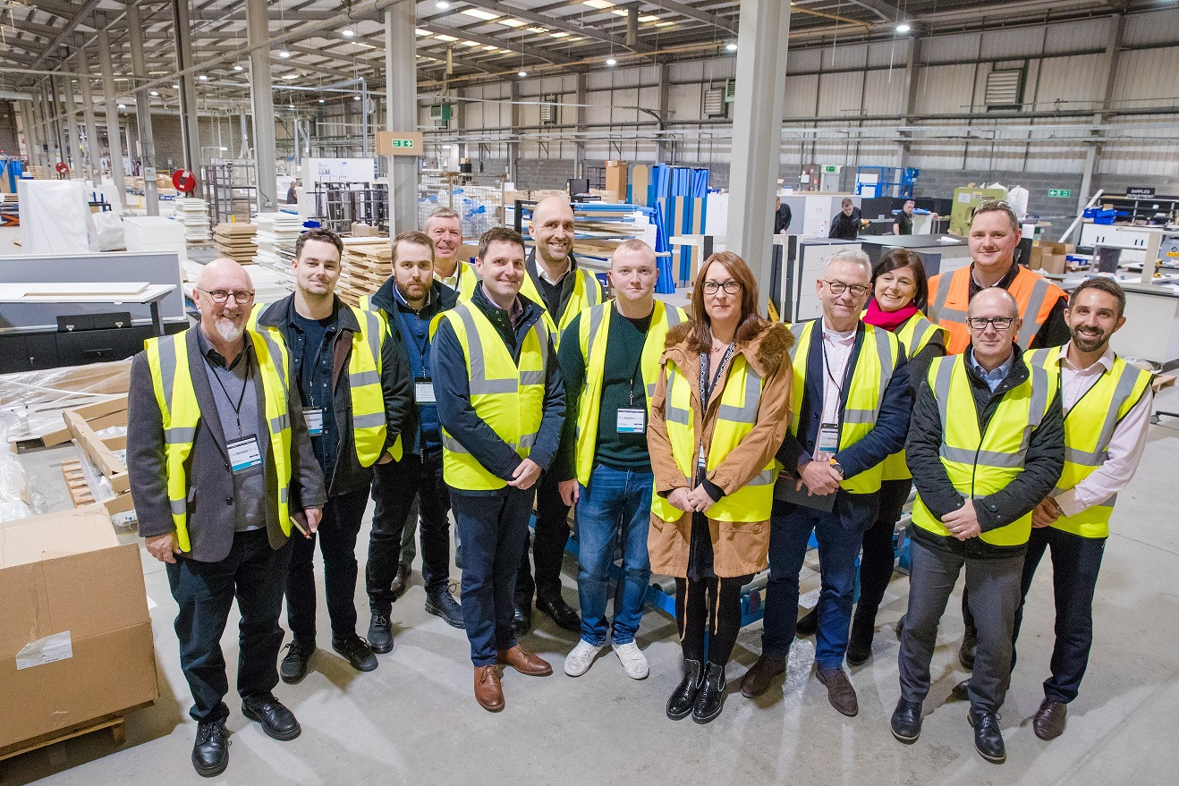 Delegrates of the Made Smarter Leadership Programme during a visit to Veka. Image courtesy of Made Smarter