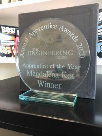 Level 3 Apprentice of the year award 2020 - won by Magda Wojs - Credit: The Engineering Trust
