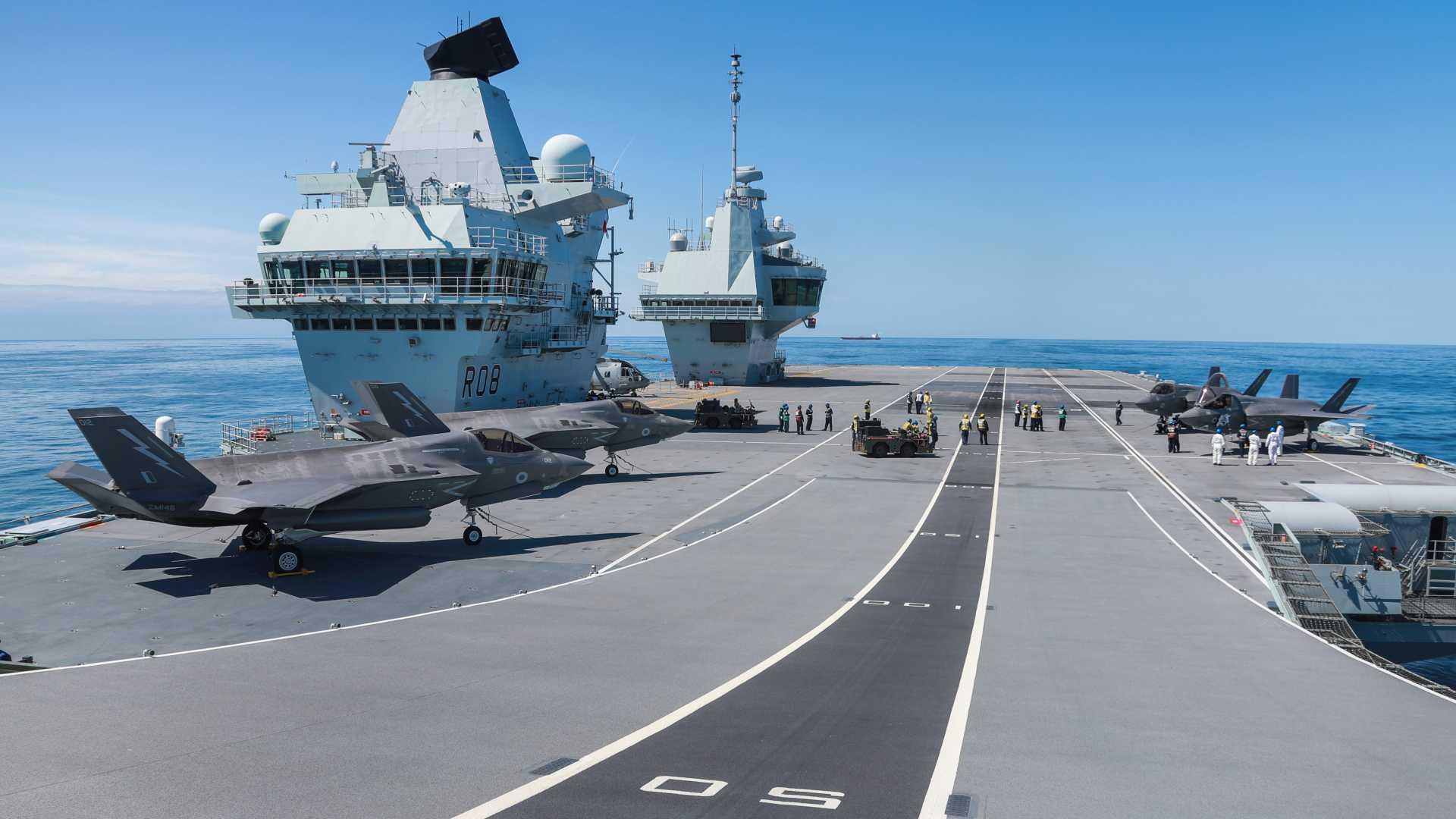 HMS Queen Elizabeth & CSG21 - Credit: OGL/CROWN COPYRIGHT
