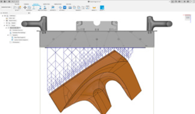 Screenshot of Fusion 360 additive manufacturing process: Image courtesy of Autodesk