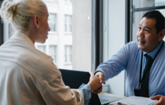 Business meeting/shaking hands: Stock Image Supplied by Trust Hunter