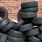 Car tyres – Graphene can be added to car tyres to enhance their recyclability: Image courtesy of NPL