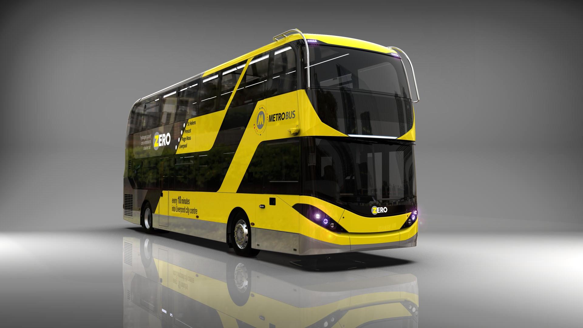 ADL-Enviro400FCEV Hydrogen bus for Liverpool City Region: Image courtesy of Alexander Dennis Limited
