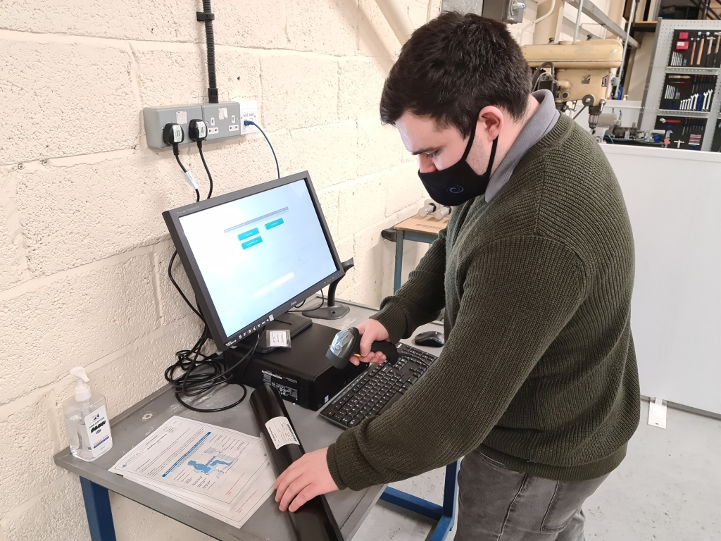 Barcode scanners help keep Kirkstall's production processes as efficient as possible. Image courtesy of Kirkstall.
