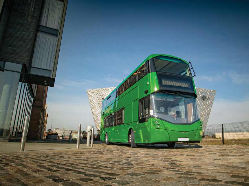Wrightbus, the world's first ever hydrogen-powered bus. Image courtesy of Wrightbus