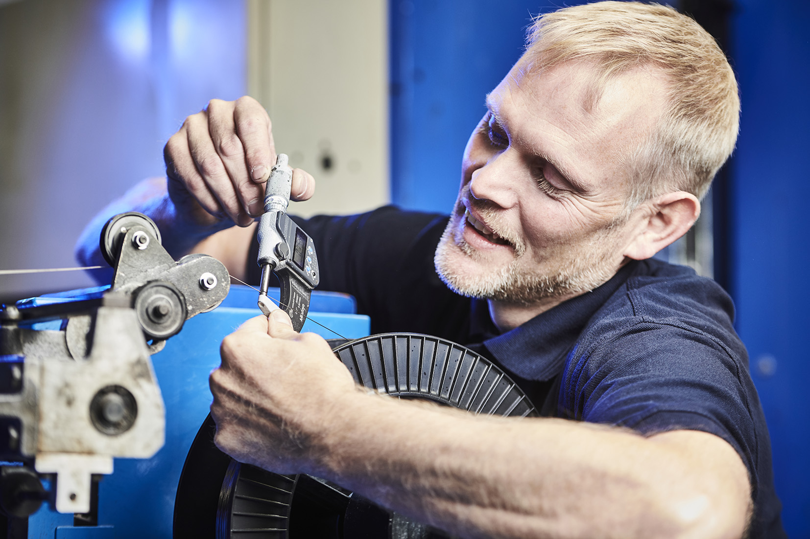 Fine Wire Technician - Precision Shaped Wire.. Image courtesy of PSW