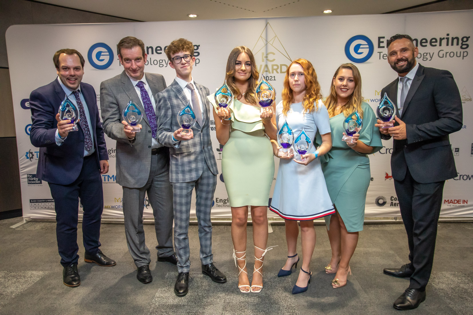 In-Comm Training Awards 2021 winners. Image courtesy of In-Comm Training