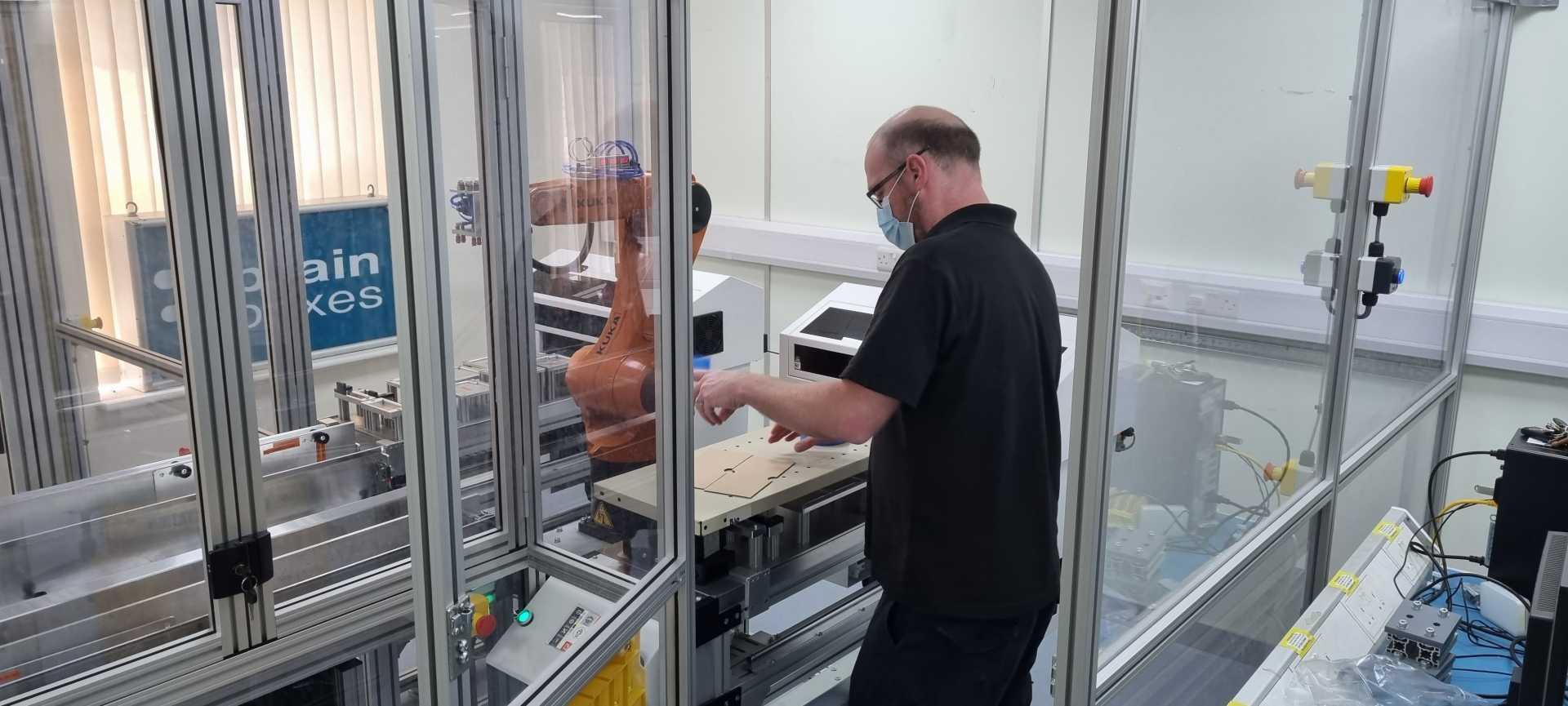 A Brainboxes operator using robotics Courtesy of Brainboxes.