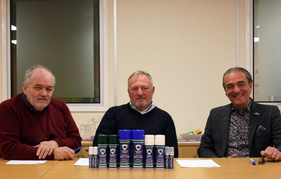 Room Shield's John Donnelly, Dave Williams and Kevin Parr. Image courtesy of Room Shield.