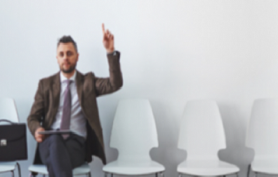 Interviewee waiting for job interview - stock image (resized)