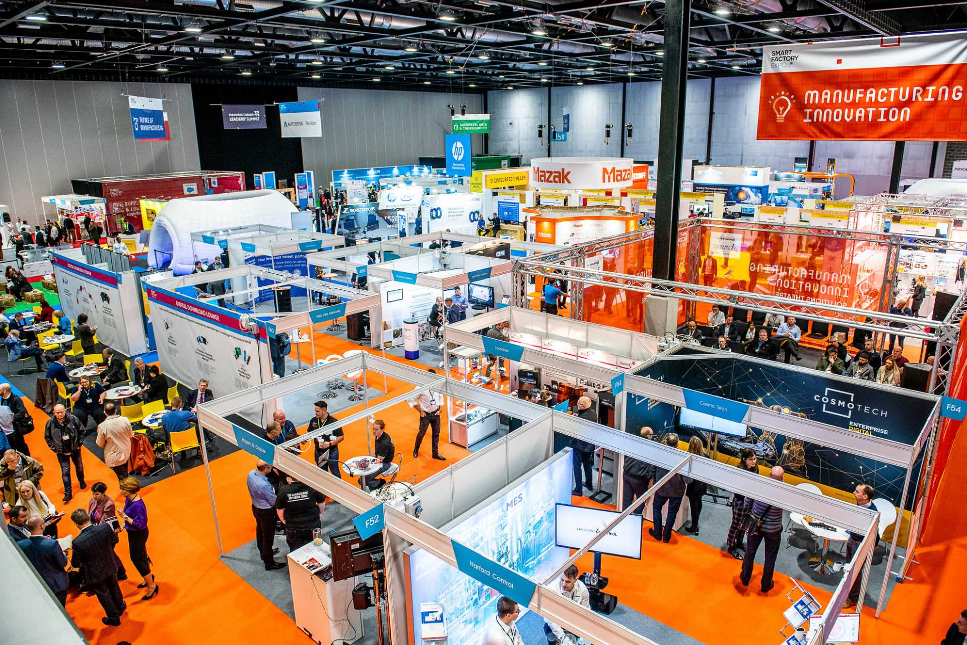 The Smart Factory Expo show floor at Digital Manufacturing Week 2019