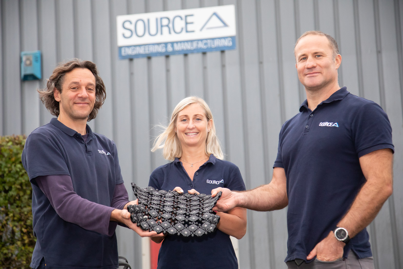 (l-r) Pablo Gutierrez, Andrea Taylor and Ian Matthews (all Source Engineering). Image courtesy of Source Engineering