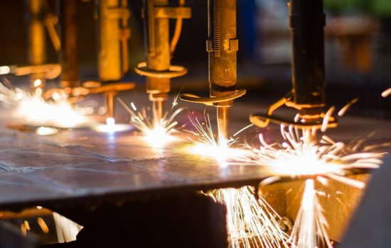 Cnc,Lpg,Cutting,With,Sparks,Close,Up. Image courtesy of Shutterstock
